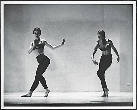 Yvonne Rainer, Duet from Terrain, 1963, Yvonne Rainer and Trisha Brown performing