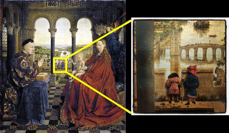 شکل شماره پنج: نقاشی «یان فنایک» با نام «مدونا و رولینِ اعظم»